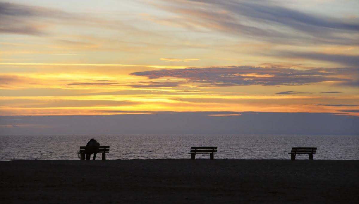 plage - coucher de soleil