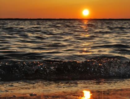 Coucher de soleil Carcans Plage