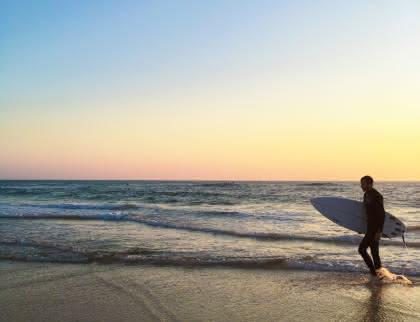 Coucher de soleil surf Lacanau - © Médoc Atlantique (21)