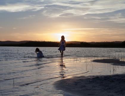 Lac enfants - © Isabelle Magendie - Médoc Atlantique