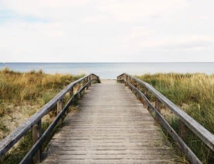 Ponton vers plage Médoc Atlantique