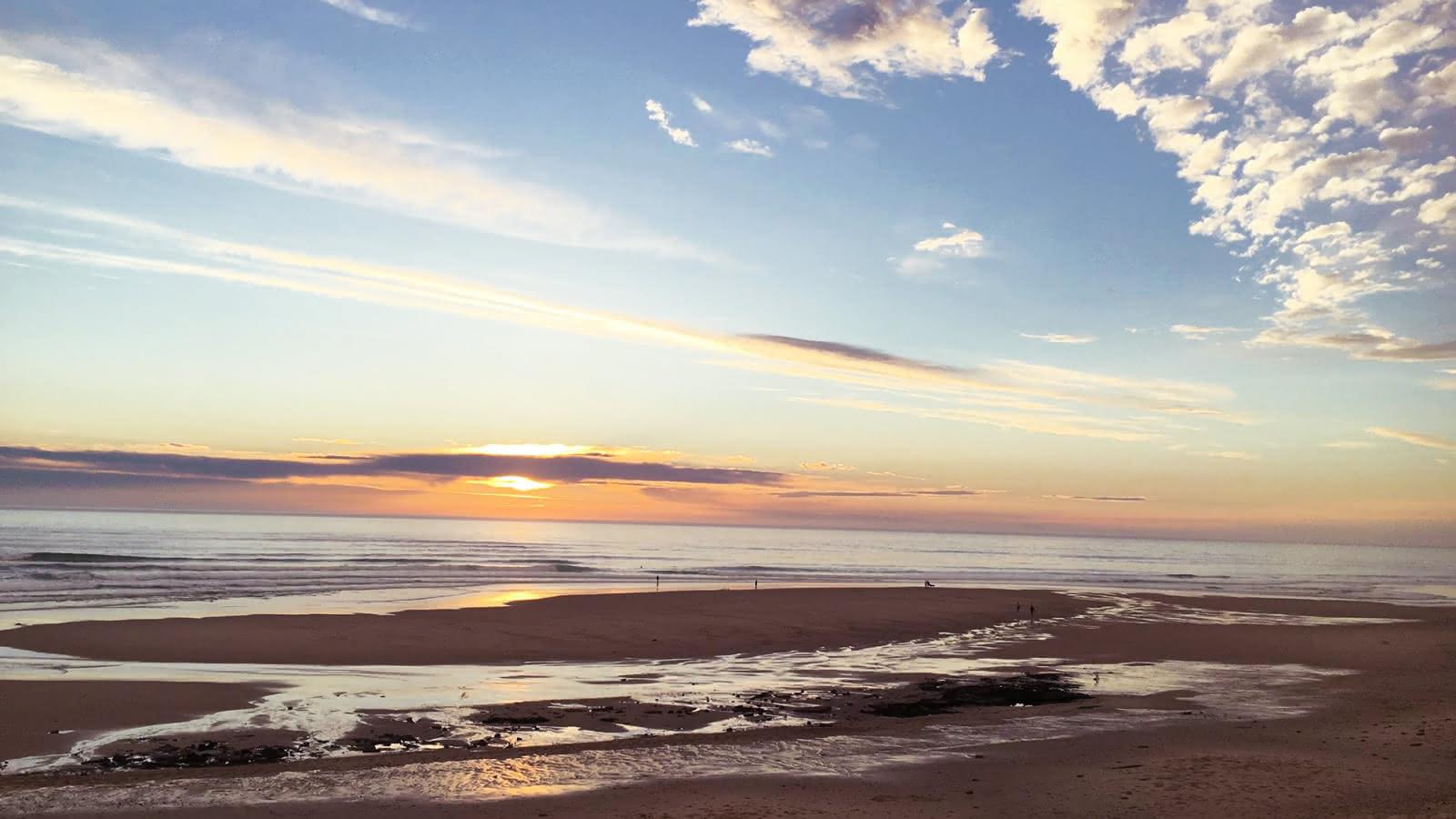 Coucher de soleil Hourtin Plage - © Médoc Atlantique