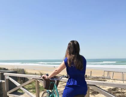 Vélo plage Lacanau - © Médoc Atlantique