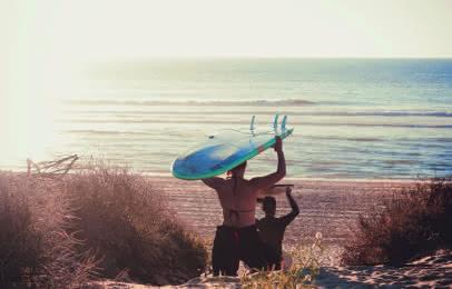 Surf plage Pin sec Naujac sur mer
