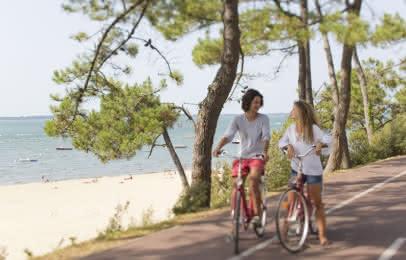 Vélo à Arcachon, Plage Pereire - S. Cottereau
