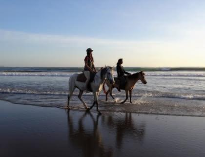 Balade à cheval sur la plage médoc