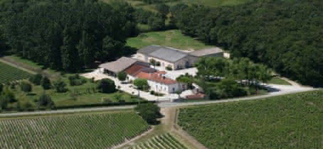 Château Vieux Robin Vue aérienne
